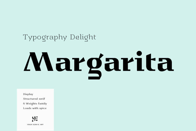 A Sharply Structured Display Serif From Yinon Ezra: YE Margarita