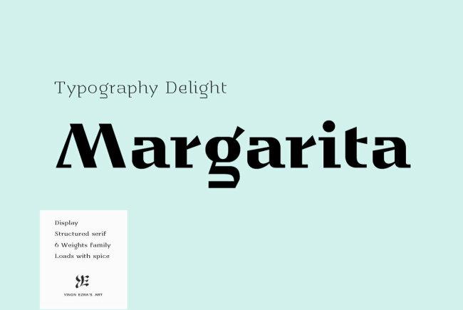 A Sharply Structured Display Serif From Yinon Ezra: YE Margarita