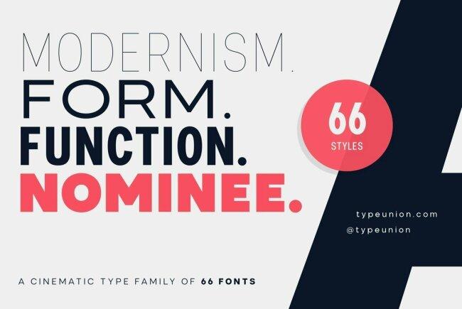 Nominee: A Superfamily Of Geometric Sans Serifs