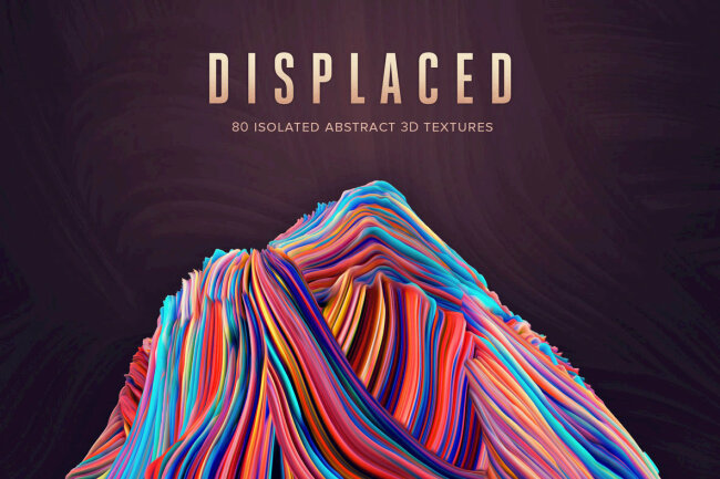 Displaced: 80 Isolated Abstract 3D Textures From Chroma Supply