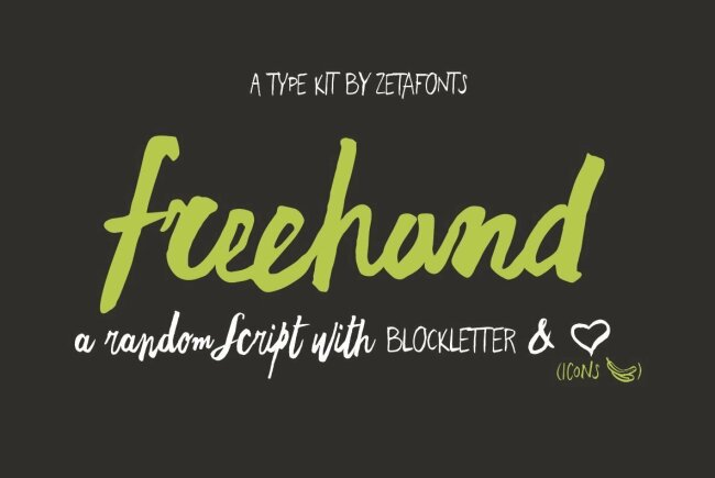 An Organic Script and Block Letter Family from Zetafonts: Freehand Brush