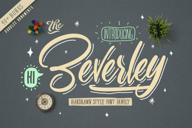 A Handwritten Type Family With Midcentury Charm: Beverley