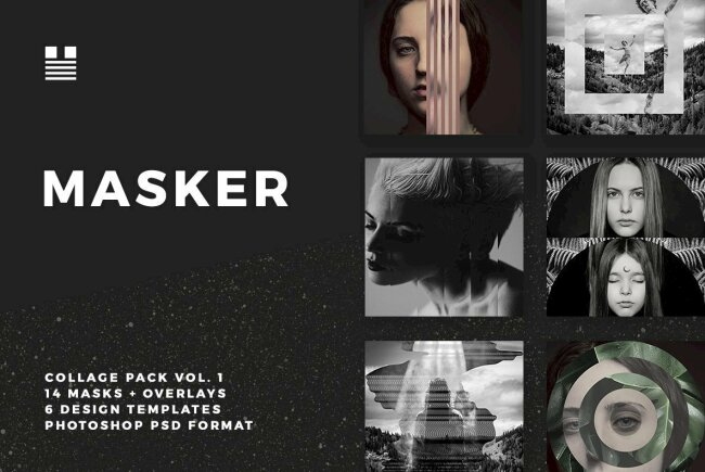 Masker: A Creative Collage Pack from Hello Mart