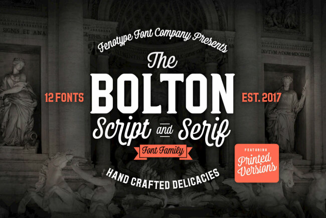 A Script and Serif Family from Emil Bertell: Bolton