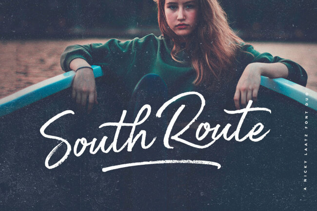 A Handmade Sans and Script From Nicky Laatz: South Route Font Duo