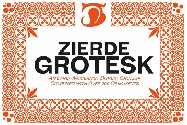 Zierde Grotesk: A Contemporary Sans Serif With Turn-Of-The-Century Style