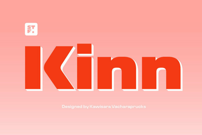 Kinn: An Industrial Style Sans Serif From Stawix Foundry