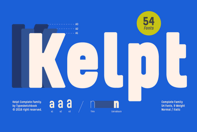 Reach Brand New X-Heights With Kelpt From Typesketchbook