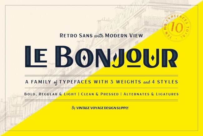 Le Bonjour: A Classic Sans Serif With An Art Deco Flair