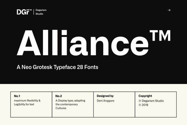Alliance: A Neo-Grotesque From Degarism Studio