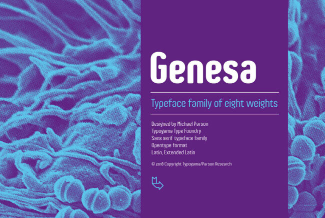 Genesa: A Condensed Rounded Sans Serif From Michael Parson