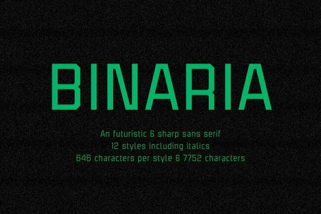 Binaria: A Futuristic Sans Serif From Graviton