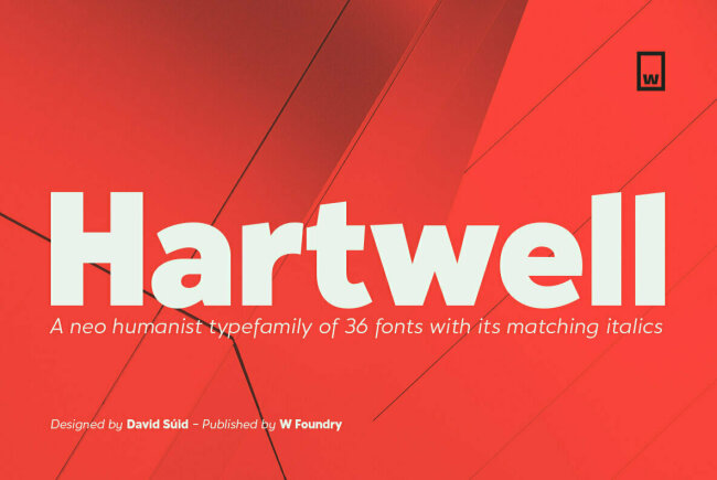 Hartwell: A Neo-Humanist Sans Serif From W Type Foundry