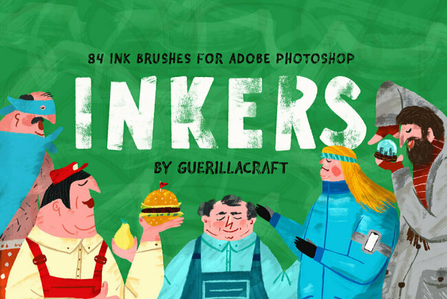 Inkers – 84 Ink Brushes for Adobe Photoshop Gives Digital Illustrators Everything They Need in One Handy Brush Collection