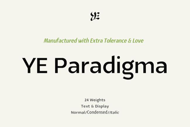 A Beautifully Crafted Sans Serif From Yinon Ezra: YE Paradigma
