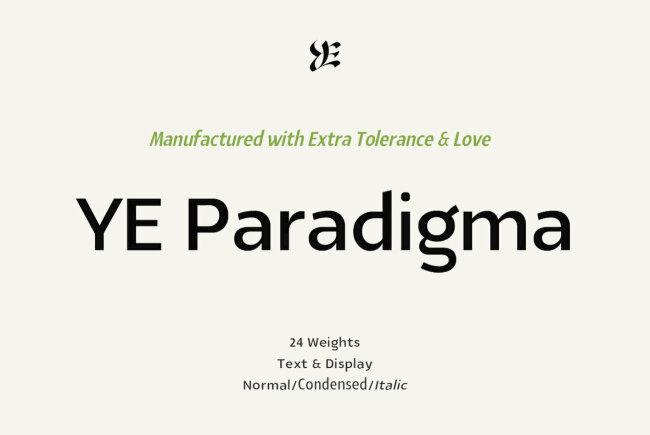 A Beautifully Crafted Sans Serif From Yinon Ezra: YE Paradigma