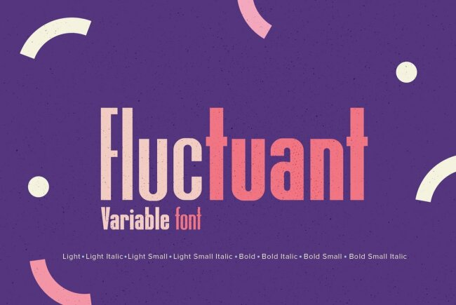 The First Variable Font Released By YouWorkForThem: YWFT Fluctuant