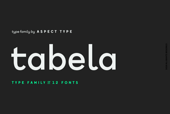 Inspired by Monospaced Fonts, Aspect Type Releases Tabela – A Contemporary Sans Serif Family