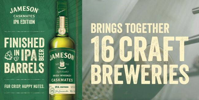 Jameson Caskmates Licenses Veneer Through YouWorkForThem