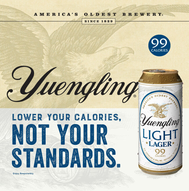 Yuengling Licenses Veneer for a National Marketing Campaign