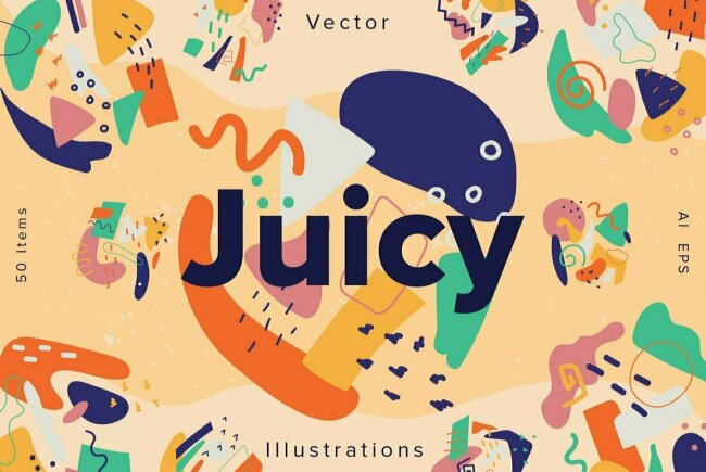 Juicy: Freshly-Made Abstract Illustrations From YouWorkForThem Design Studio