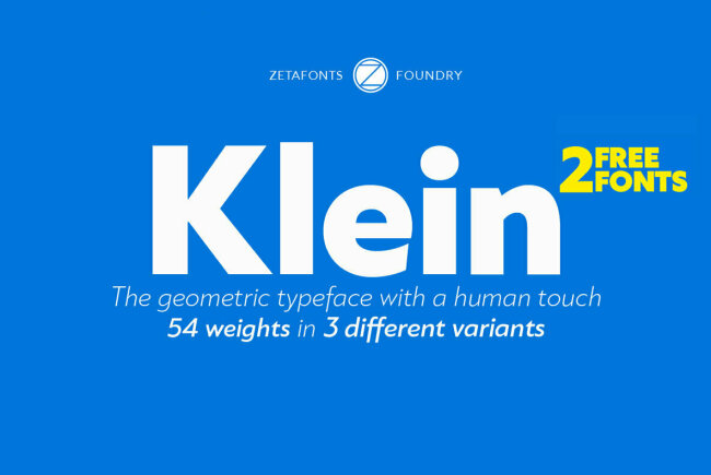 A Contemporary Love Letter From Zetafonts to Futura: Klein