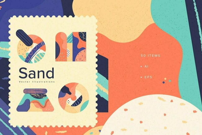 Sand: An Abstract Vector Collection From YouWorkForThem Design Studio