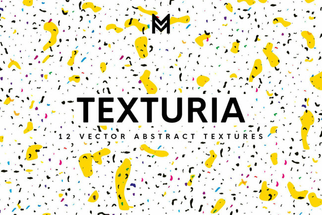 Texturia: Contemporary Confetti Vector Textures from Mazarine Studio