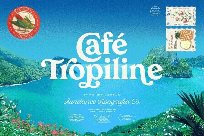 Tropiline Font Family Bundles an Elegant Serif, Sans Serif, and Script