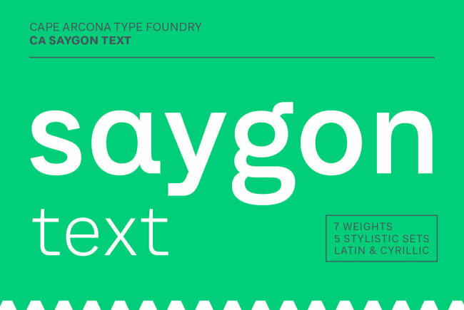 CA Saygon Text: A Sans Serif With Multiple Style Options