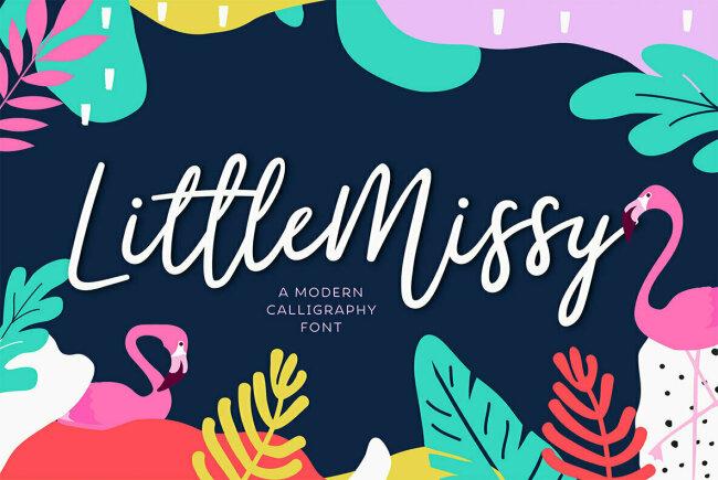 LittleMissy: An Exuberant, Youthful Cursive Script From TypeFairy