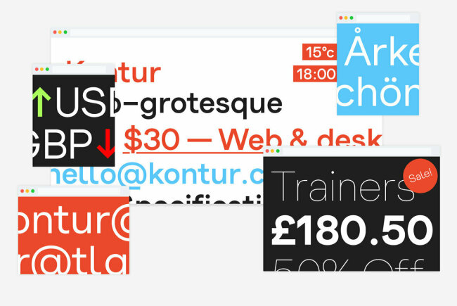 A Contemporary Sans Serif Freshly Cut by Samuel Powell: Kontur