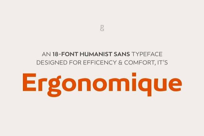 Ergonomique: A Unique Sans Serif From Paulo Goode