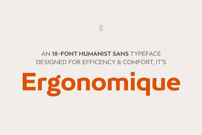 Ergonomique: A Unique Sans Serif From Paulo Goode