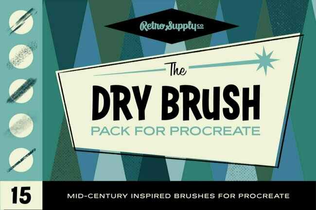 Introducing The Dry Brush Pack for Procreate, New From RetroSupply Co.