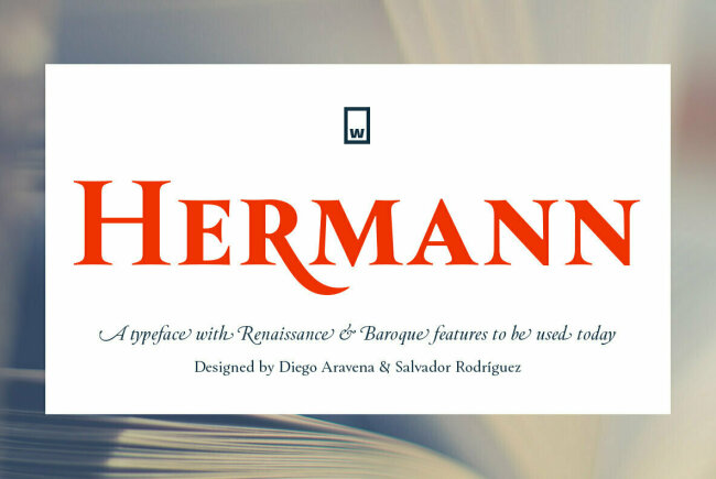 Hermann: A Beautiful Text Family Inspired by 20th-Century Classic Literature
