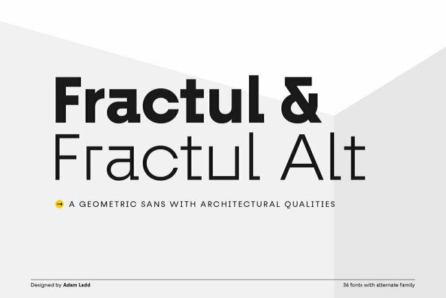 An Angular, Avant-Garde Sans Serif From Adam Ladd: Fractul