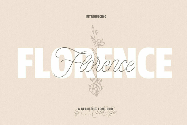 A Font Duo Built For High Fashion: MADE Florence