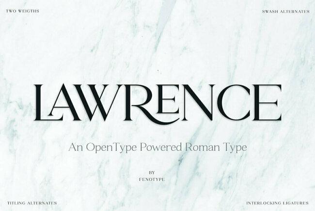An Elegant New Serif From Emil Bertell: Lawrence