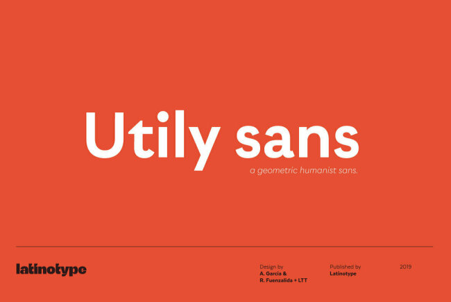 Utily Sans: A Humanist Geometric Sans Serif From LatinoType