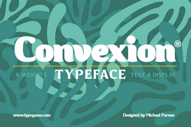 A New Experimental Serif From Michael Parson: Convexion