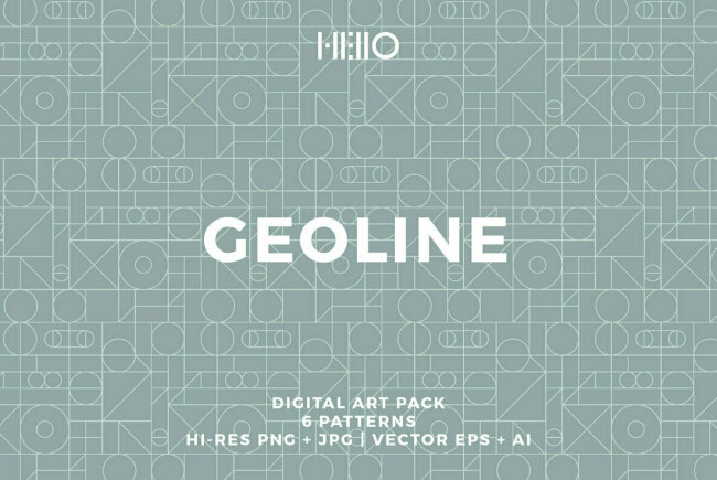 New Seamless Geometric Patterns From Hello Mart: Geoline