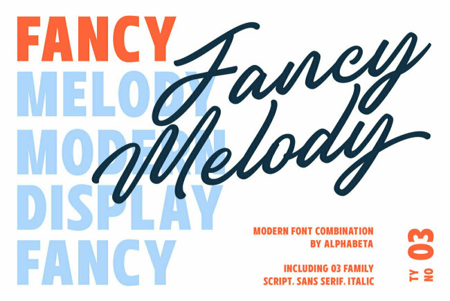 Fancy Melody Pairs a Retro Script With a Bold Sans Serif