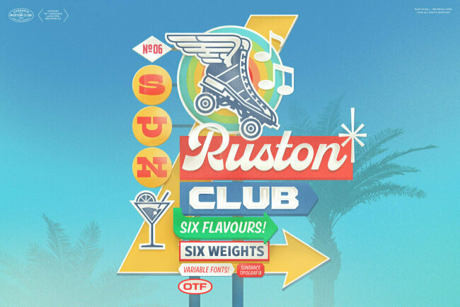 Ruston: A Superfamily of Hand-Painted Lettering From Cahya Sofyan