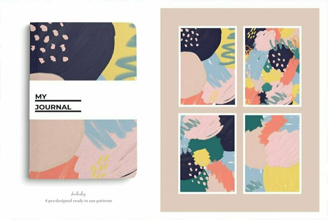 Modern Abstract Shapes and Patterns, New From Bron Alexander