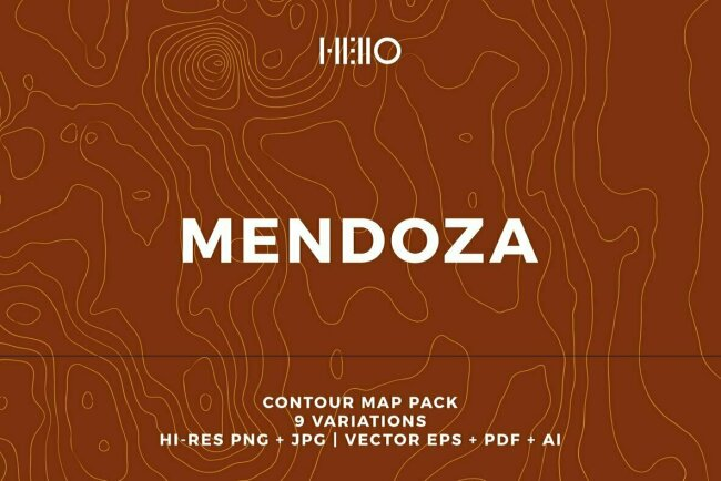 Mendoza Topographic Maps Celebrates Argentina's Wine Country