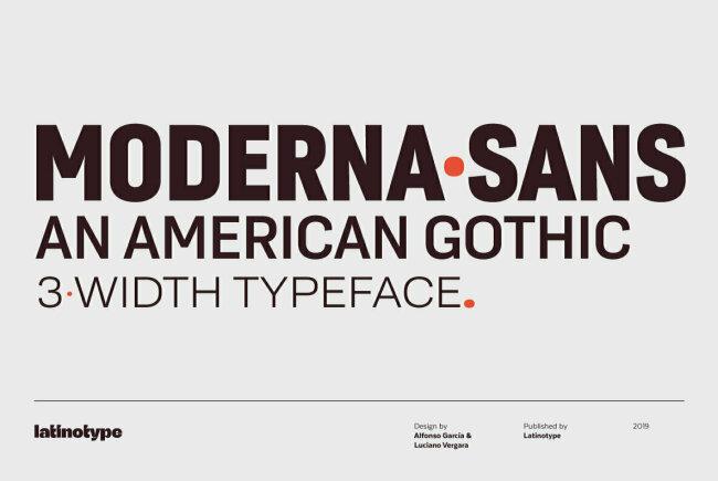 Moderna Sans Explores And Updates American Gothic Design