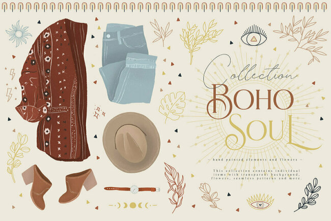 Boho Soul Collection Celebrates Bohemian Lifestyle Through Hand Drawn Illustrations