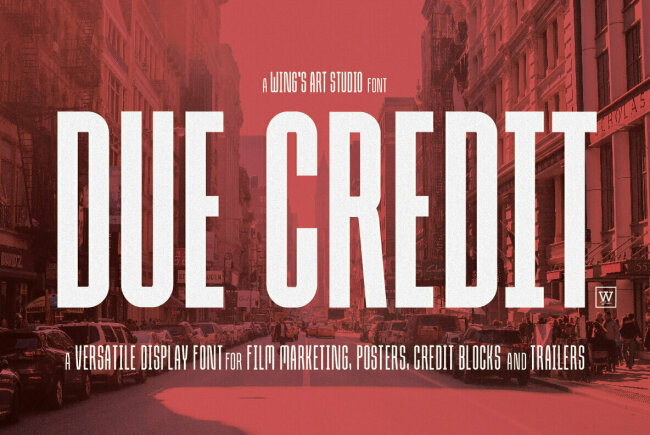 Due Credit: A Dramatic Cinema-Inspired Sans Serif From Christopher King