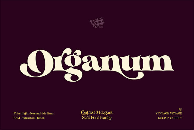 Classic Didone Style From Vintage Voyage Design: Organum
